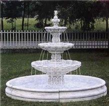 White Marble Makrana Fountains