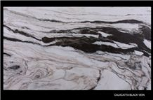 Calacatta Black Vein Marble Slabs