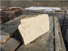 Natural Loose Yellowish-White Gneiss Flagstone for Wall and Floor