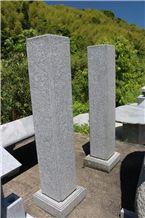 Tenzan Ishi Granite Gate Post