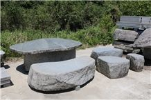 Tenzan Stone Garden Table Set