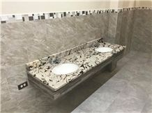 White Fantastic Granite Church Bathroom Top