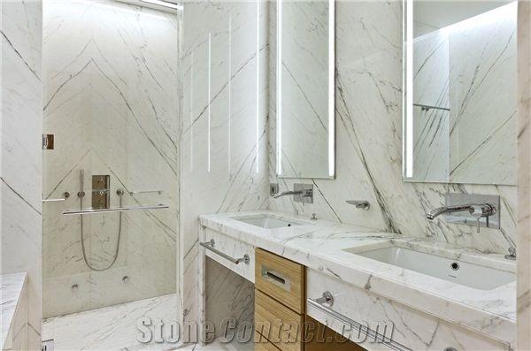 Carrara Marble Bathroom Design