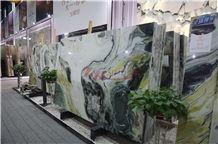Chinese Dreaming Green Marble Paradis Jade Honeycomb Pannels