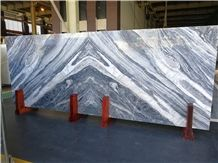 Totem Blue Marble Slab,Azul Fantasy Panel Cutting to Size Bookmatched Tiles