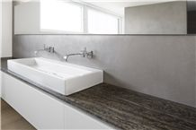 Kirchheimer Muschelkalk Vein Cut Filled, Brushed Bathroom Decorating