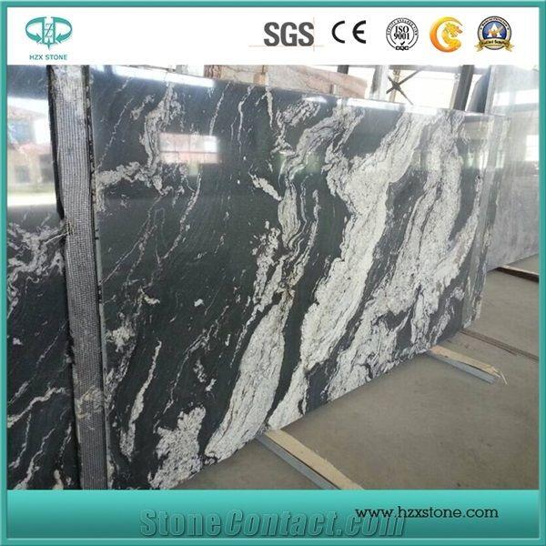 Black Granite With White Veins China Royal Ballet Slabs