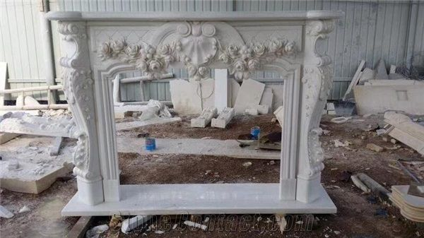 Super Sculptured Marble Stone Fireplace Modern Style White Marble Ocoug Best Dining Table And Chair Ideas Images Ocougorg
