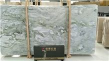 China Blue Sea Marble Ice Green Jade Polished Slabs Tiles Hotel Lobby