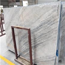 China Spring Land White Grey Marble Slab,Wall Cladding