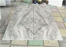 China White Grey Spring Land Marble Floor Wall Tiles Book Match Hotel