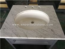 Bianco Carrara Marble Bathroom Vanity Tops 22 X24
