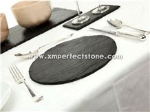 Factory Direct Wholesale 30x20cm Natural Edge Slate Plates