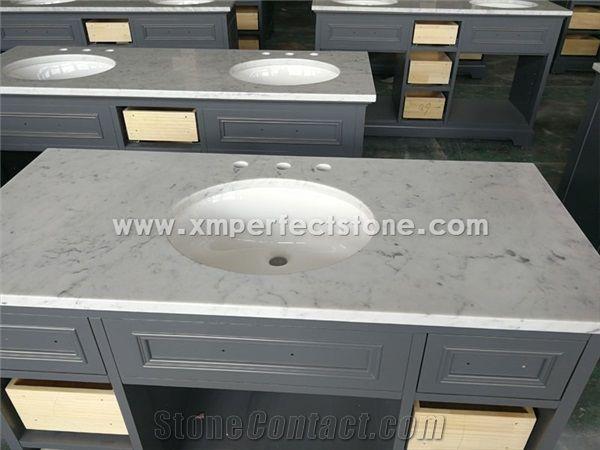 Wholesale Natural Stone Bianco Carrara Marble Countertop