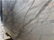 Calacatta Borghini Marble Block, Italy White Marble