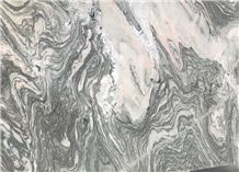 Water Cloudy Grey Marble Slab,Golden Vein Marquina Wall