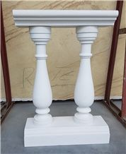 Kuna Bella White Limestone Balustrades, Handrails