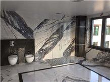 Vino Viola Calacatta Residental Bathroom Decoration