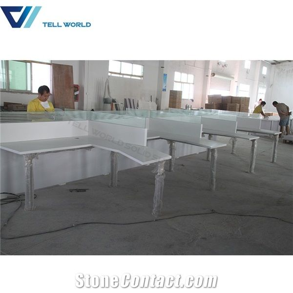 4 Seater Office Table Design Simple Multi Person Office Desk ...