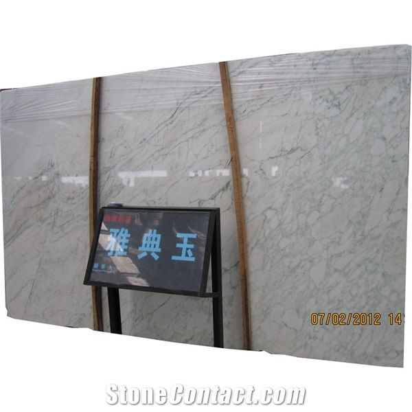 Gray White Veined Marble Bathrooms: Wall Floor Athens Silk Veined Cloudy White Marble With