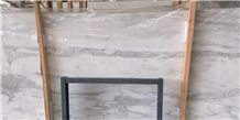 White Wood Marble Slab & Tile,Calacatta White,Serpegiante Grey Marble