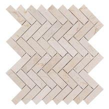 Crema Marfil Marble Mosaic Tile Herringbone for Wall and Floor Decor