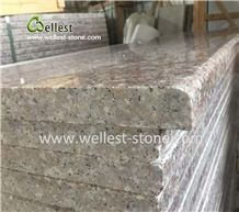 Peach Pink Granite Steps/Stone Stairs/Paving Steps for Outdoor Indoor