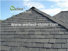 Sandstone Black Roof Tiles Steps Stacked Stone Paving Stone