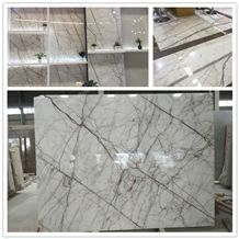 White Calacatta Marble Slabs Luxury Bathroom Wall Tiles Floor Tiles