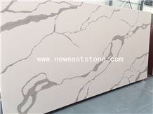 Factory Directly Largest Size Calacatta White Quartz Stone Slab Price