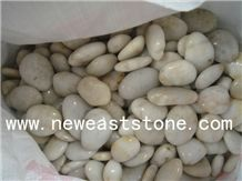 Landscaping White Polished River Washed Pebble Garden Cobble Stone