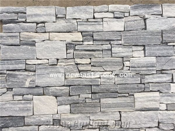 White And Grey Cheap Ashlar Natural Stone Veneer Panels Lowes From China Stonecontact Com