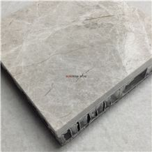 Lightweight Natural Grey Marble Honeycomb Panels for Outdoor or Indoor Wall Design