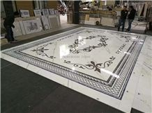 Waterjet Carpet Design Marble Floor Medallions