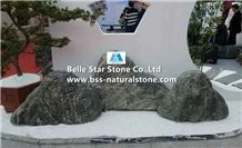 Black Marble Landscaping Rock Stone Boulders,Garden Yard Decor Stone