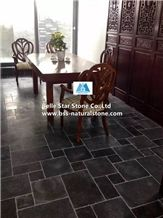 Brushed Blue Limestone Flooring,Antique Pavers,Patio Stones,Walkway