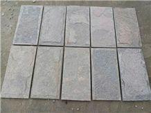 Grey Quartzite Wall Tiles Split Face, Wall Corner