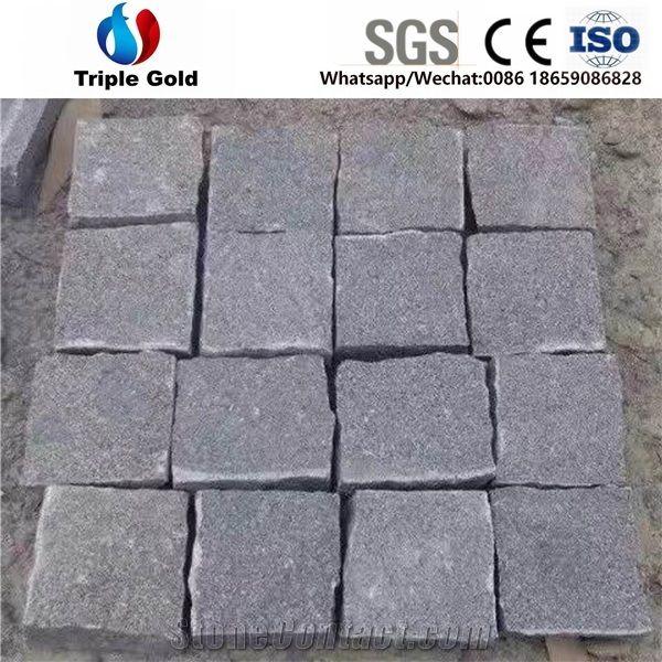 G654Dark Grey Granite PavingSmall Cube Stone Floor Covering Paver
