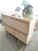 Chinese Golden Rustic Granite G682 Bench