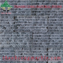 Black Marble Chiseled Stone Wall Tiles