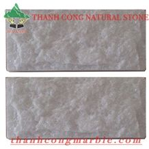 Crystal White Marble Split Face Wall Tiles