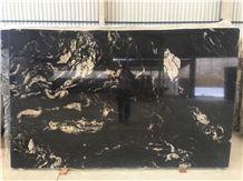Titanium Black Granite Slabs & Tiles