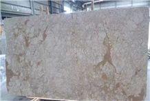 Golden Rose Beige Marble Slabs for Hotel Project
