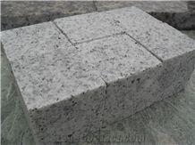 G603 Padang Light Grey Granite Cube Stone Machine Cut Cobble Floor Paver