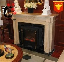 Decoration Natural Marble Fireplace Surround Design Cover Remodelings