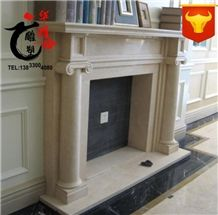 Decoration Natural Marble Fireplace Surround Veneer Stone