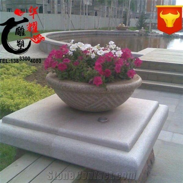 Garden Outdoor Natural Stone Planters Garge Vase Flower Pot From