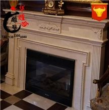Natural Marble Stone Fireplace Surround Home Decoration
