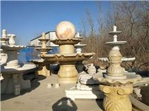 Outdoor Fountains Landscaping Sculptured Stone Park Bowl