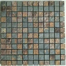 Rusty Slate Mosaic Sheet Tiles Wall Cladding Decoration Floor Mosaics